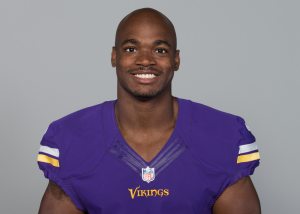 Adrian Peterson (photo courtesy of Minnesota Vikings)