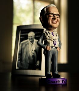 Steve Fritz bobblehead (photo courtesy of University of St. Thomas)