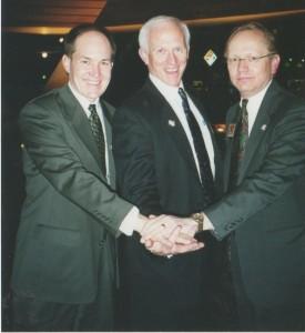 Lester (center) with dome colleagues Steve Maki & Dennis Alfton.